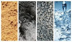песок, цемент, щебень и вода для изготовления тротуарной плитки